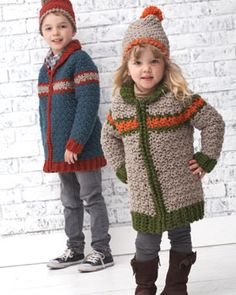 Kiddie version of the classic car coat. Pattern.