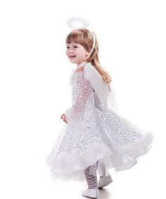 girls angel costume angel wings costume angel costume with wings christmas angel costume girls white fairy - Pageant Girl Halloween Costume