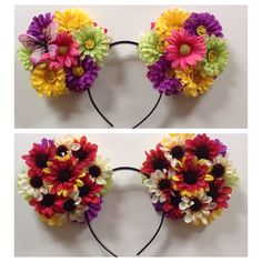 Flower Mickey ears D