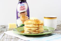 Homemade Italian Sweet Creme Pancakes from @LiveLaughRowe made with Coffee-mate Italian Sweet Creme flavor