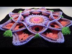 Crochet Flower 3D Granny Square 2 – Crocheted World