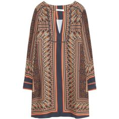 Mango Paisley Print Dress, Multi ($26) ❤ liked on Polyvore featuring dresses, long sleeve mini dress, long sleeve floor length dress, rayon maxi dress, brown dresses and long-sleeve mini dress