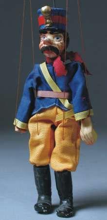 Antique puppet soldier - 1920 - wood