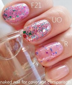 Battle of the pink sprinkled polishes! @Luuux