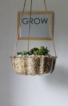 upcycle cake pan as hanging planter...