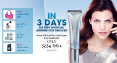 Shop Online!  In three days see deep wrinkles around your eyes reduced! click link to get it today!  Free Shipping....code:  FS30REP