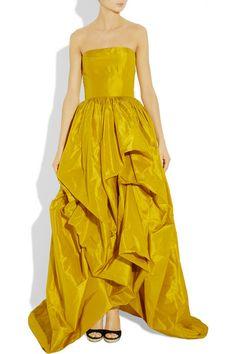 Oscar de la Renta   Silk taffeta gown