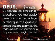 Deus, é a fortaleza onde me abrigo, a pedra onde...