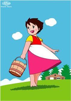 heidi with basket Heidi Cartoon, Cartoon Tv Shows, Bible Cartoon, Retro, 80 Cartoons, Curious Cat, Arte Pop, Classic Cartoons, Anime