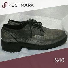 Design lab Oxfords Metallic  (black and silver) design lab by Lord and taylor Oxford type shoes. Never worn. Design Lab  Shoes Flats & Loafers