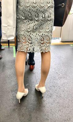 ( *`ω´) If you don't like what you see❤, please be kind and just move along. Dress Skirt, Lace Skirt, One Piece Dress, Sexy Legs, Designing Women, Cute Girls, Tights, Women's Fashion, Street Style
