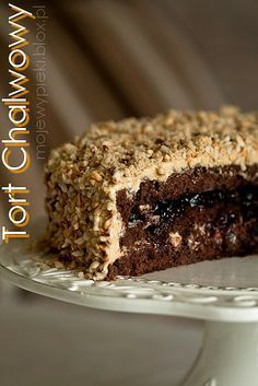 Tort chałwowy by paulette Polish Desserts, Polish Recipes, Cookie Desserts, Bakery Recipes, Dessert Recipes, Cake Receipe, Easy Cake Decorating, Pudding Cake, Pastry Cake