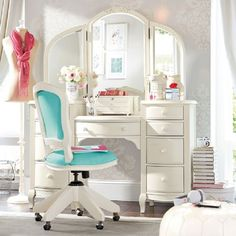 I like the shape of this vanity... plenty of storage and I like the roundedness. Would need another color though.