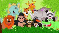 Animals at the Zoo - Animal Sounds - Learn the Sounds Zoo Animals Make. It's a Kids Educational video ; Funny Sketches, Funny Drawings, Kids Zoo, Animals For Kids, Animals Images, Animal Pictures, Cartoon Zoo Animals, Clip Art Library, Animal Categories