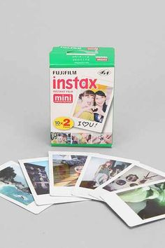 Fujifilm Instax Mini 8 Instant Camera - Urban Outfitters - I would need like 20 of these boxes to last me a week! Instax Mini Film, Fuji Instax Mini, Instax Mini Camera, Fujifilm Instax Mini 8, Polaroid Camera, Mini Polaroid, Fuji Camera, Smartphone Printer, Instax Wide
