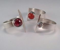 Sleek and modern - new sterling silver rings from artist Janice Fowler.