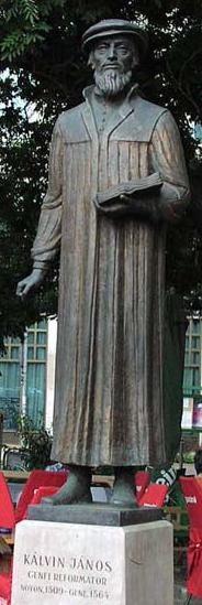 Kálvin János genfi reformátor szobra Buza Barna alkotása (2000.)