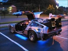You made a time machine... out of a DeLorean?????