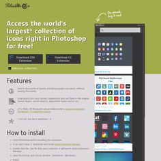 BlendMe.in Access the world's largest* collection of icons right in Photoshop for free!
