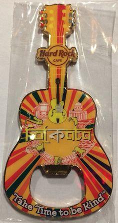 Hard Rock Cafe Fukuoka Guitar Bottle Opener Magnet~NEW~