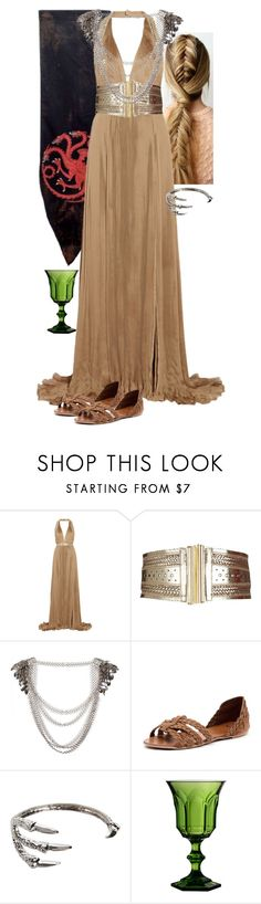 """""""Game of Thrones Dragon Princess"""" by werewolf-gurl ❤ liked on Polyvore featuring Roberto Cavalli, Dorothy Perkins, Mollini, Hot Topic and Mario Luca Giusti"""