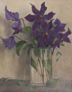 Gerrit David Labots (1869-1959) - Clematis, oil on canvas. Things of beauty I like to see