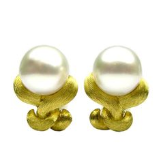 Henry Dunay Pearl Earrings | From a unique collection of vintage clip-on earrings at http://www.1stdibs.com/jewelry/earrings/clip-on-earrings/