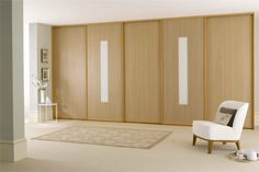 fitted sliding wardrobe doors in beech white glass