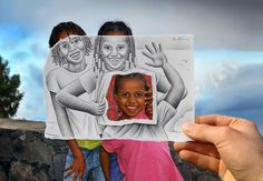 drawing inside a photo