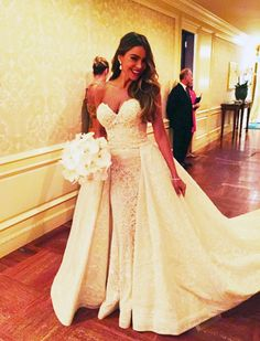 See Sofia Vergara's GORGEOUS Wedding Dress via @WhoWhatWearUK