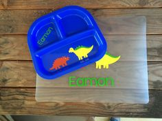 Personalized Toddler Meal Set Divided Toddler Plate by HappyToz | Dinner Time | Pinterest | Toddler plates Creativity and Owl & Personalized Toddler Meal Set Divided Toddler Plate by HappyToz ...