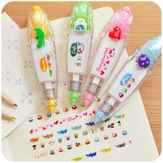 ♥ love silently pushing Korea creative stationery stylish lace colorful cute corrected with correction tape Correction Tape - Taobao