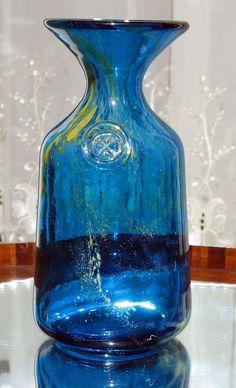 Art Glass : A Maltese Mdina glass Vase - circa 1960's/70's - Michael Harris