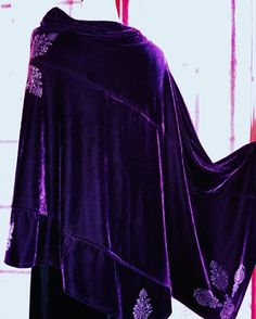#velvet #poncho #gogoginaclothing fits all sizes -for sale I made only one (deep purple) http://gogoginaclothing.tumblr.com/ my tumblr page