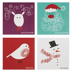 John Lewis Cube Scribbles Charity Christmas Cards