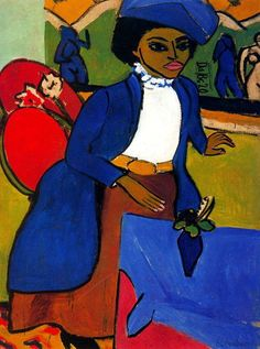 """""""Portrait of a Woman"""" (1911) by Ernst Ludwig Kirchner"""