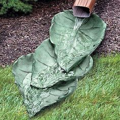 Diy garden concrete leaves your projectsobn 19 truly fascinating diy garden art ideas you never thought of
