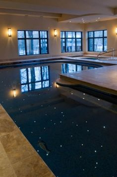 eclectic pool by Master Pools by Dominion Gunite (Calgary) Ltd.  I love the bottom of the pool. the lights and shadows.. look closely