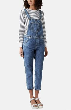 still obsessed with overalls Topshop Moto Crop Denim Overalls | Nordstrom…