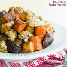 Balsamic Roasted Vegetables - Cupcakes & Kale Chips