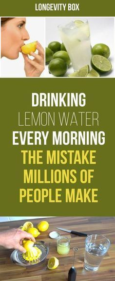 DRINKING LEMON WATER EVERY MORNING – THE MISTAKE MILLIONS OF PEOPLE MAKE