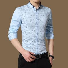 We love it and we know you also love it as well Plus Size 5XL 2016 New Men Dress Shirt Brand Tuxedo Shirt Print Long Sleeve Polka Dot Pattern Cotton Shirts Mens Clothing just only $13.63 with free shipping worldwide  #shirtsformen Plese click on picture to see our special price for you