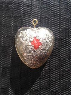 Cuore Ciondolo Talismano in orgonite cuore PRANA KI/Orgone,spirale in RAME
