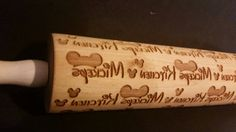 Disney Style Personalized Rolling Pin by EngravedOriginals on Etsy Casa Disney, Disney Rooms, Disney Dream, Disney Fun, Disney Style, Disney House, Mickey Mouse House, Mickey Mouse Kitchen, Disney Mickey Mouse