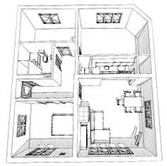 kockaház Floor Plans, Houses, Homes, House, Computer Case, Floor Plan Drawing, Home, House Floor Plans