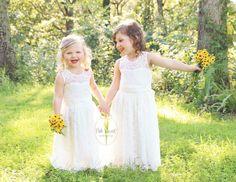 robe de fille de fleur de dentelle robes de demoiselle