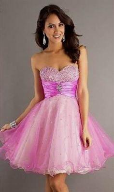 Awesome pink strapless dresses for kids