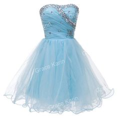 Online Shop GK Light Blue/Black/White/Watermelon Strapless Formal Prom Homecoming Gown Ball Girl's Mini Party Short Cocktail Dresses CL4503|Aliexpress Mobile