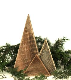 Christmas Tree Triangles Rustic Wood Trees by GrindstoneDesign