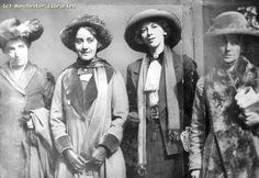 Suffragettes Annie Briggs, Lillian Forrester and Evelyn Manestra, 1913 by mcrarchives, via Flickr